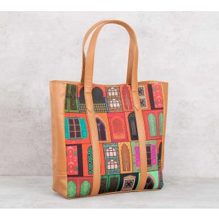 India Circus Mughal Doors Reiteration Tote Bag