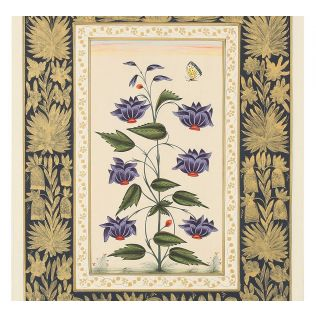 India Circus Mughal Flower Bed Handmade Poster
