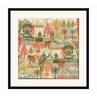 India Circus Mughal Treasures Framed Wall Art