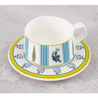 India Circus Mystical Garden Cup and Saucer (Set of 6)