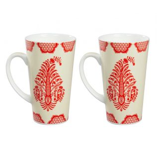 India Circus Mystique Flower Ambush Conical Mug