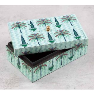 India Circus Palm Jumeirah Enameled Storage Box