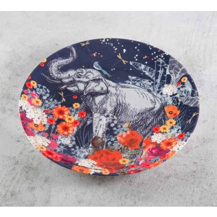 India Circus Paradise 8 inch Decorative and Snacks Platter