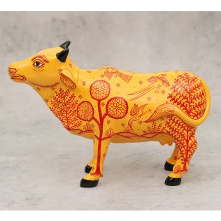 India Circus Pattachitra Art Tangerine Cow
