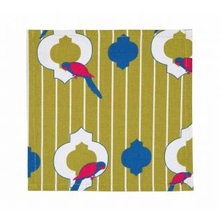 India Circus Peeking Parrots Cocktail Napkins Set of 6