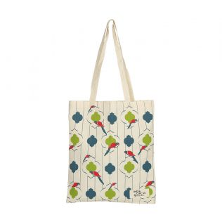 India Circus Peeking Parrots Jhola Bag