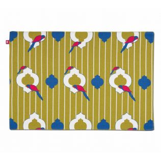 India Circus Peeking Parrots Table Mat Set of 6