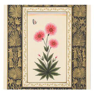 India Circus Pink Camellia Handmade Poster