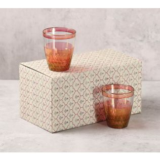 India Circus Pink Honeycomb Water Tumbler Set of 2