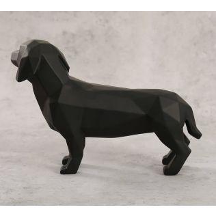 India Circus Pitch Black Dachshund Figurine