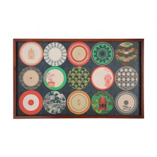 India Circus Platter Portrayal Breakfast Tray