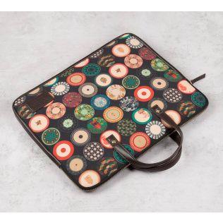 India Circus Platter Portrayal Laptop Bag