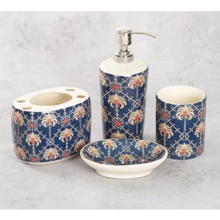 India Circus Poly Palmeria Bath Accessory Set