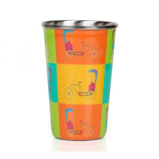 India Circus Pop Jinricksha Steel Tumbler Set of 2