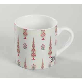 India Circus Poppy Conifer Beige Espresso Mug