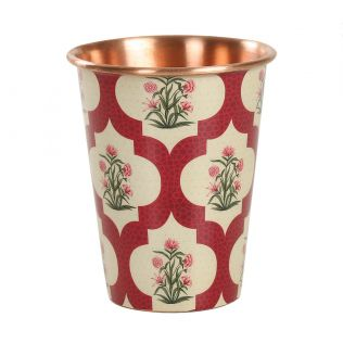 India Circus Poppy Flower Scarlet Copper Tumbler