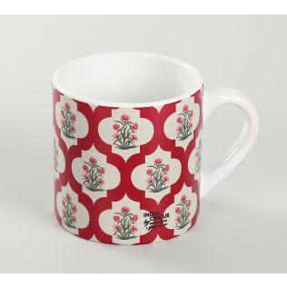 India Circus Poppy Flower Scarlet Espresso Mug