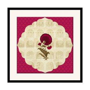 India Circus Poppy Surprise 16 x 16 and 24 x 24 Framed Wall Art