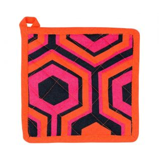 India Circus Prismatic Hexagons Pot Holder