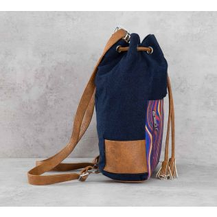 India Circus Psych Pleasures Denim Hobo Bag