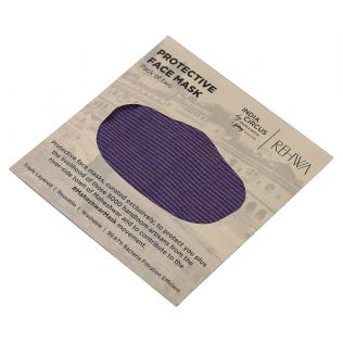 India Circus Purple Textured Cotton Mask