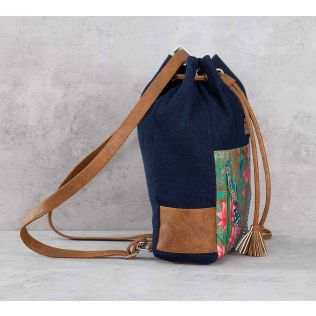 India Circus Realm of Pride Denim Hobo Bag