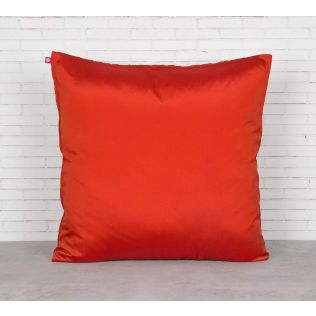 India Circus Red Pucker Satin Blend Cushion Cover