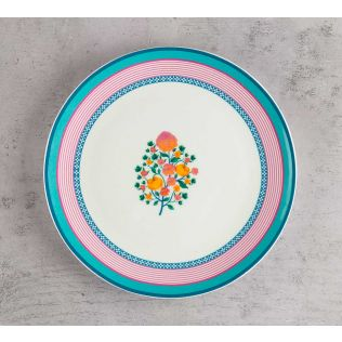 India Circus Rose Creeper Quarter Plate