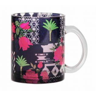 India Circus Rose Garden Maze Glass Coffee Mug