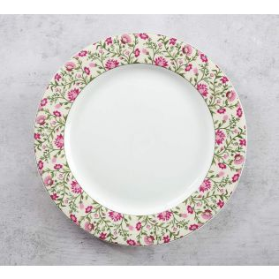 India Circus Rose Mallow Moscheutos Dinner Plate