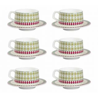 India Circus Rose Mallow Moscheutos Cup and Saucer