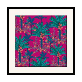 India Circus Royal Palms 16 x 16 and 24 x 24 Framed Wall Art