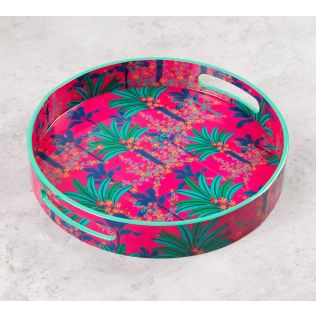 India Circus Royal Palms Round Serving Tray