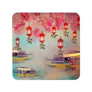India Circus Scarlet Shadow PVC Table Coaster (Set of 6)
