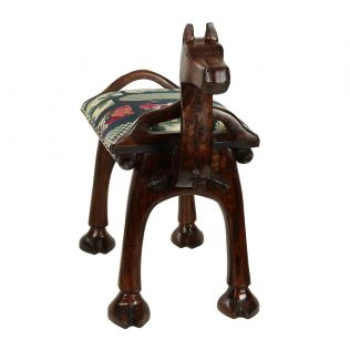 India Circus Signature Windows Camel Pouffe