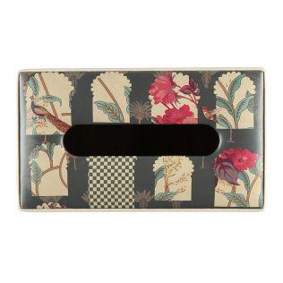 India Circus Signature Windows Leather Tissue Box Holder