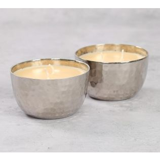 India Circus Silver Apple Cinnamon Scented Bowl Candle