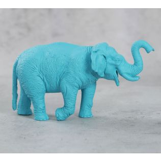 India Circus Sky Blue Baby Tusker Figurine