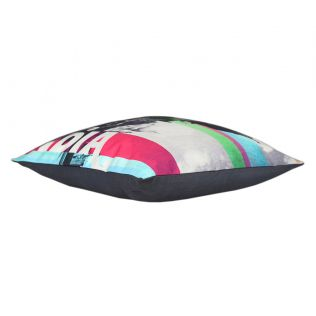 India Circus Strokes of India Canvas Blend Cushion Cover