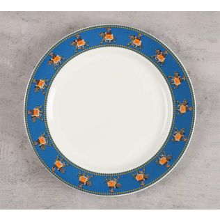 India Circus Swirling Safari Dinner Plate
