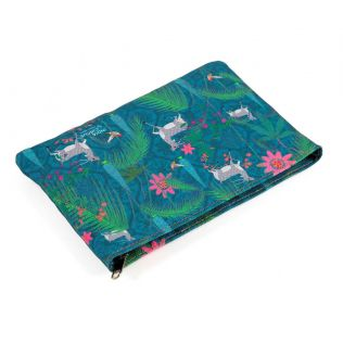 India Circus Teal Forest Fetish Utility Pouch