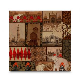 India Circus The Mughal Era 16x16 and 24x24 Canvas Wall Art