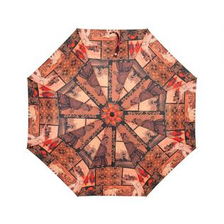 India Circus The Mughal Era 3 Fold Umbrella
