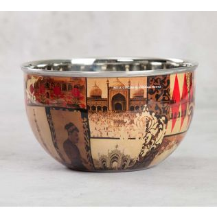 India Circus The Mughal Era Serving Bowl