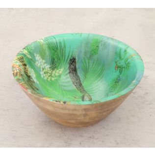 India Circus The Peacock Throne Wooden Bowl
