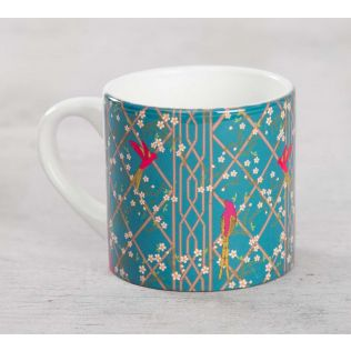 India Circus The Rose finchs Window View Coffee Mug Small