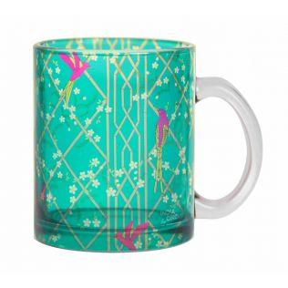 India Circus The Rose finchs Window View Glass Coffee Mug