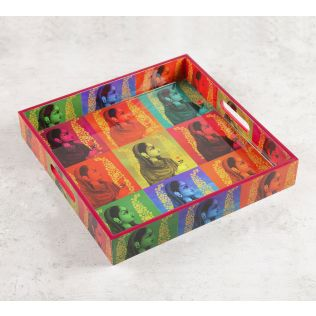 India Circus Tinted Queen Square Tray