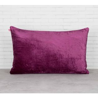 India Circus Trickles of Flower Purple Embroidered Velvet Cushion Cover