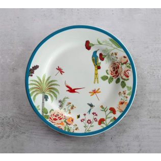 India Circus Tropical Island Living Quarter Plate